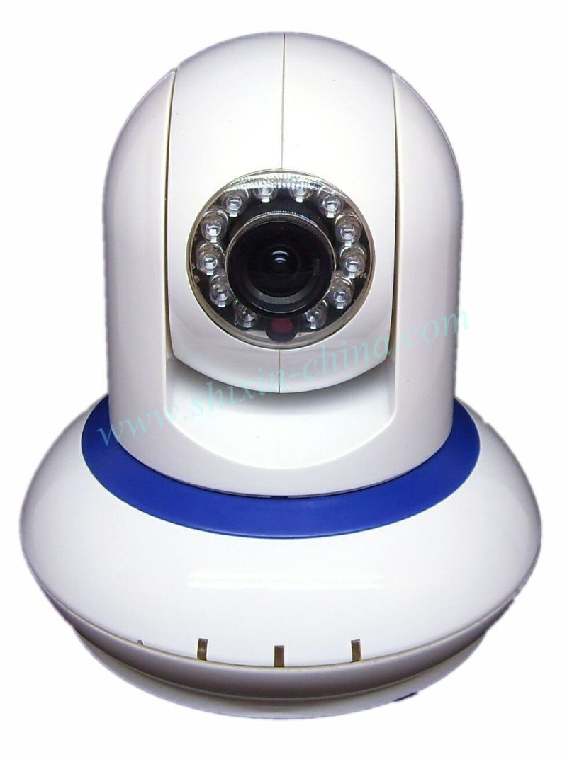 WiFi IR 2 Way Audio Webcam Wireless IP Camera with Color Box for iPhone and iPad Mini (IP-212)