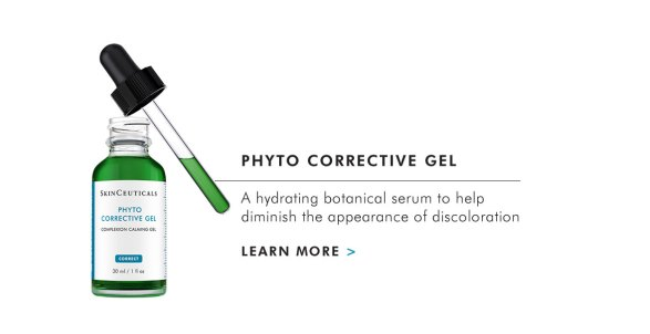 PHYTO CORRECTIVE GEL - A hydrating botanical serum to help diminish the appearance of discoloration - LEARN MORE >