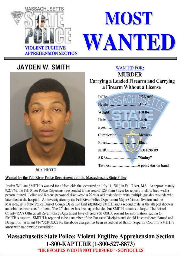 16 Year Old Murder Suspect Jayden Smith On States Most Wanted List Arrested Monday Night