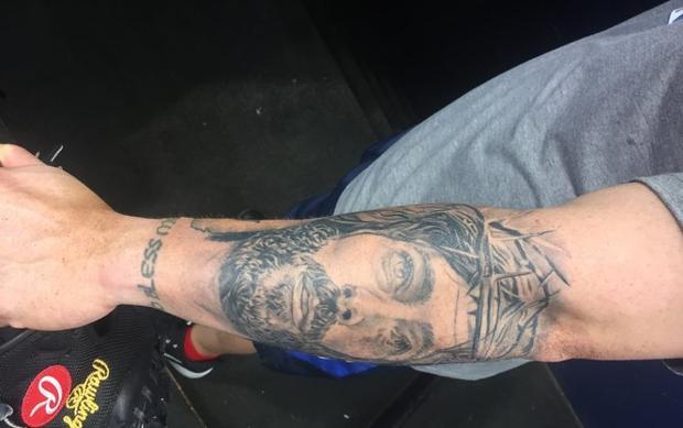 Christian Vazquez Tattoo Boston Red Sox C Has Jesus