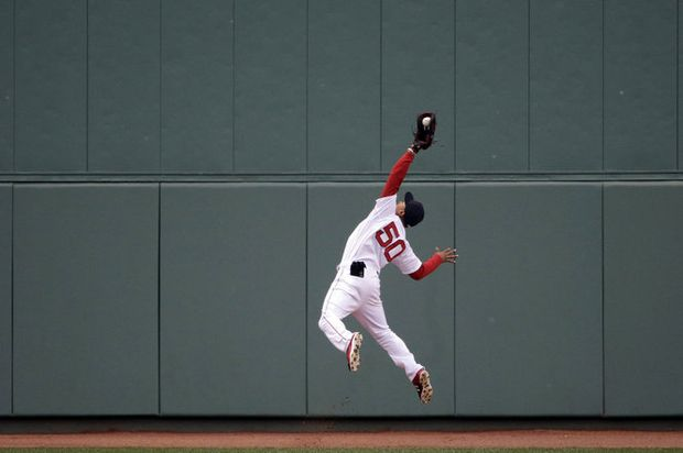 Mookie Betts Boston Red Sox RF Wins His First Career