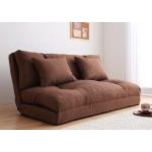 ソファーベッド 幅90cm【happy】ブラウン コンパクトフロアリクライニングソファベッド 【happy】ハッピー