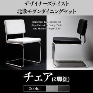 【テーブルなし】チェア2脚セット 座面カラー:ブラック デザイナーズテイスト 北欧モダンダイニング CHESCA チェスカ