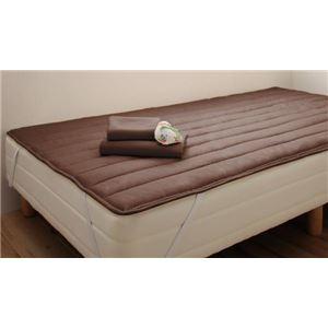 脚付きマットレスベッド セミシングル 脚15cm モカブラウン 新・ショート丈ボンネルコイルマットレスベッド