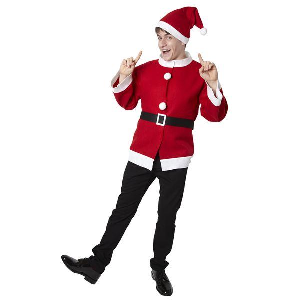 【クリスマスコスプレ 衣装】シンプルサンタジャケット ハロウィン コスプレ 衣装店