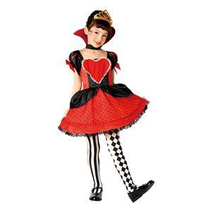 子供用 コスプレ衣装 【ラブリーハートクイーン 140cmサイズ】 ボタン仕様 ポリエステル 〔ハロウィン〕