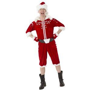サンタコスプレ/コスプレ衣装 【メンズ】 帽子 つなぎ ベルト グローブ付き 『マジサンタ ブロークンミラーサンタ』