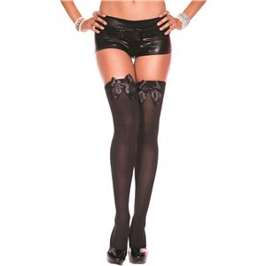 コスプレ衣装/コスチューム Music Legs 4742Black/Black ニーハイソックス