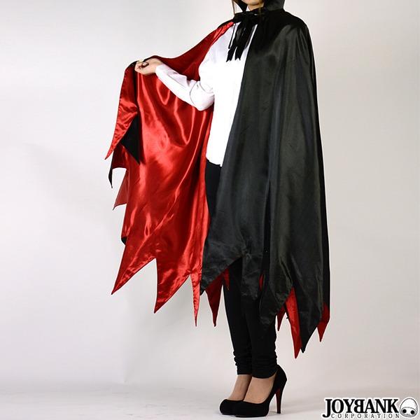 ヴァンパイアのコスプレ用ロングマント 01000753 ブラック  ハロウィンコスプレ衣装店