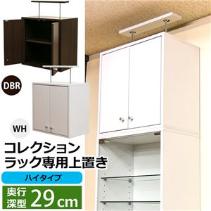 コレクションラック/収納棚 【深型専用上置き】 ハイタイプ ダークブラウン