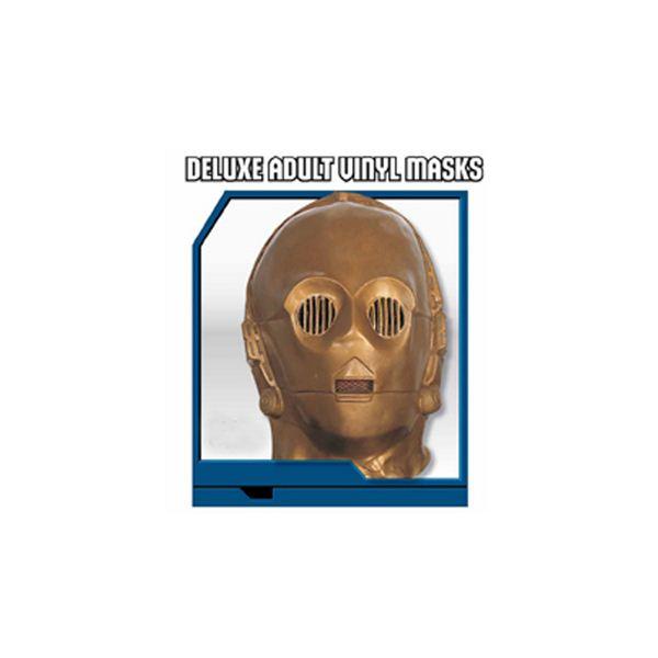 【コスプレ】 RUBIE'S (ルービーズ) 2866 スターウォーズ Deluxe adult vinyl masks C-3PO(マスク)  ハロウィン コスプレ 衣装店