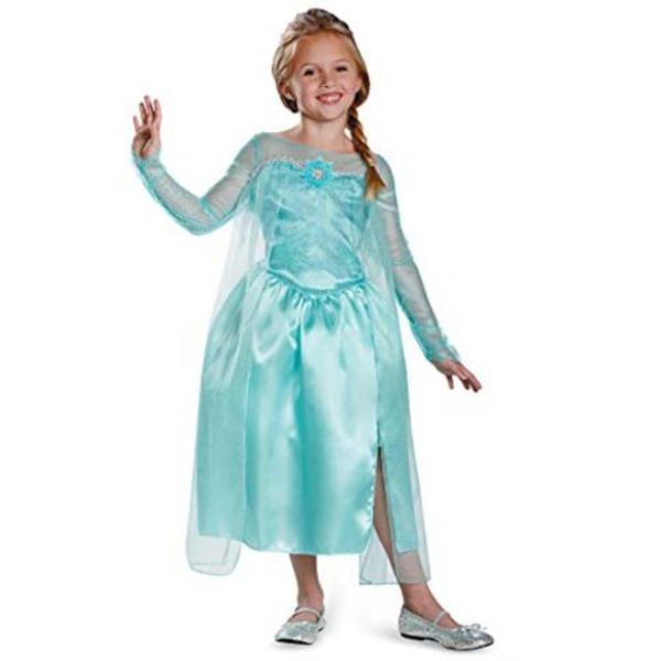 ディズニー DISNEY エルサ スノークイーン ガウン アナと雪の女王 コスチューム 子供用S ハロウィン コスプレ 衣装店