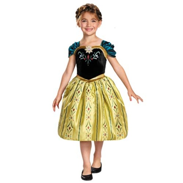 ディズニー DISNEY アナ ドレス ワンピース 戴冠式 フォーマルドレス コスチュームXS ハロウィン コスプレ 衣装店