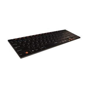 ユニーク 2.4GHzワイヤレスキーボード rapoo E9070 ブラック 5.6mmウルトラスリム E9070