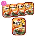 【韓国食品・おかず缶詰】センピョお母さんの味「エゴマの葉キムチ辛口」5個セット