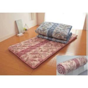 羊毛混ウレタン入り 軽量3層敷布団 ピンク系