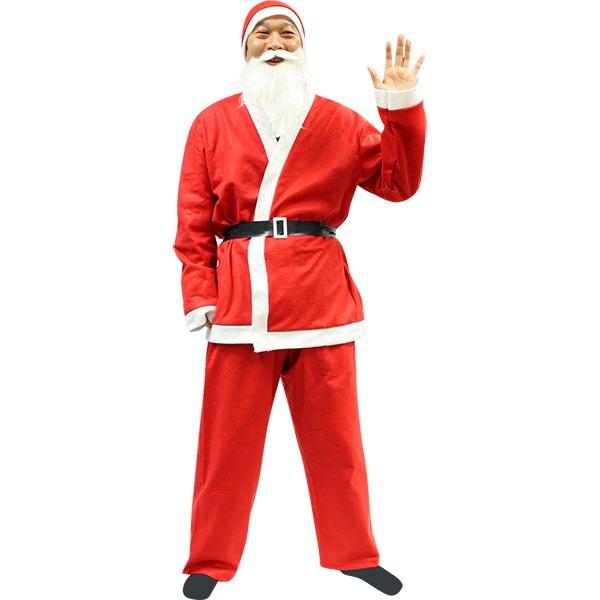 【クリスマスコスプレ 衣装】P×P メンズサンタクロース サンタコスプレ男性用 5点セット ハロウィン コスプレ 衣装店