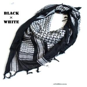 綿100%アラブスカーデッドストック ・ ブラック×ホワイト