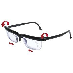 度数が調節できるメガネ ブラック
