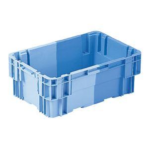 (業務用10個セット)三甲(サンコー) SNコンテナ/2色コンテナボックス 【Bタイプ】 孔無 #342 ブルー×ライトブルー
