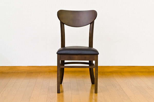 ダイニングチェア/リビングチェア 【2脚セット】 座面高43cm 張地:合成皮革/合皮 木脚 AMANDA ライトブラウン