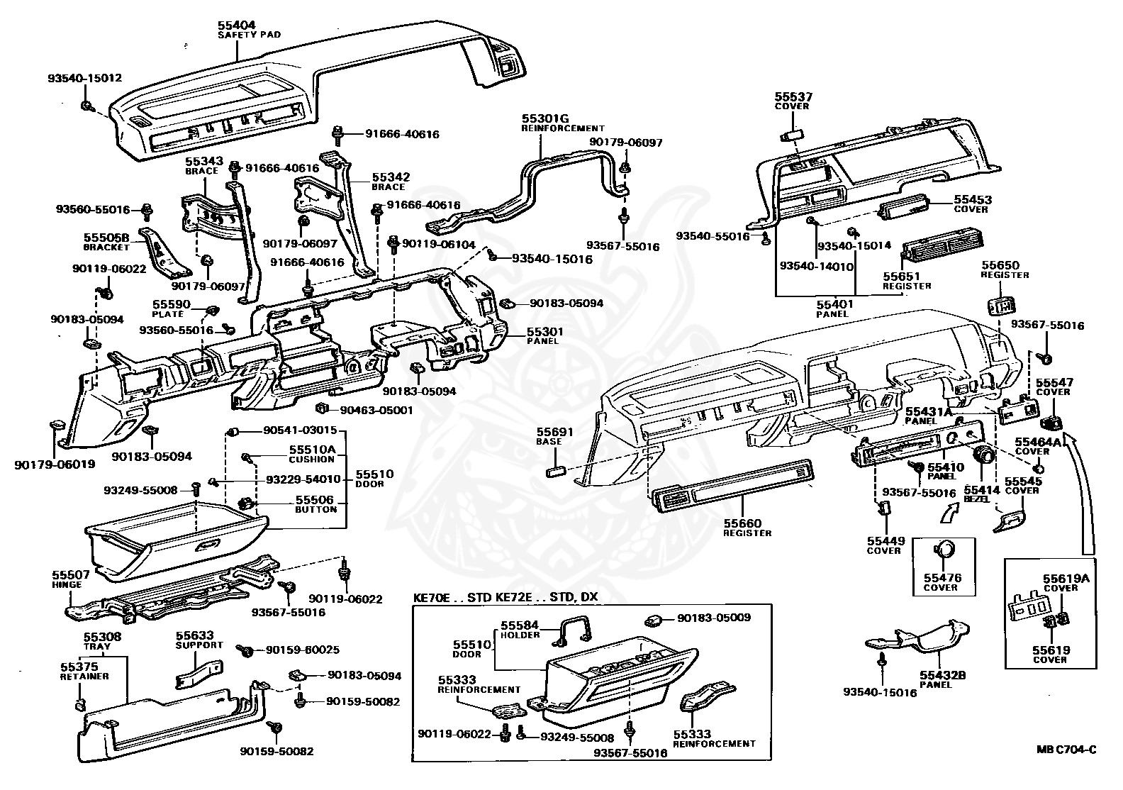 Toyotum Corolla Engine Compartment Diagram