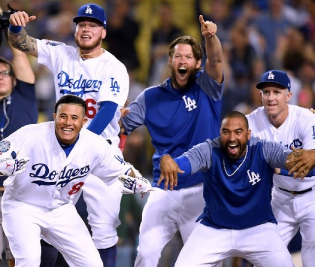 The L A Dodgers Meet The Milwaukee Brewers In Game  Of The Nlcs Harry