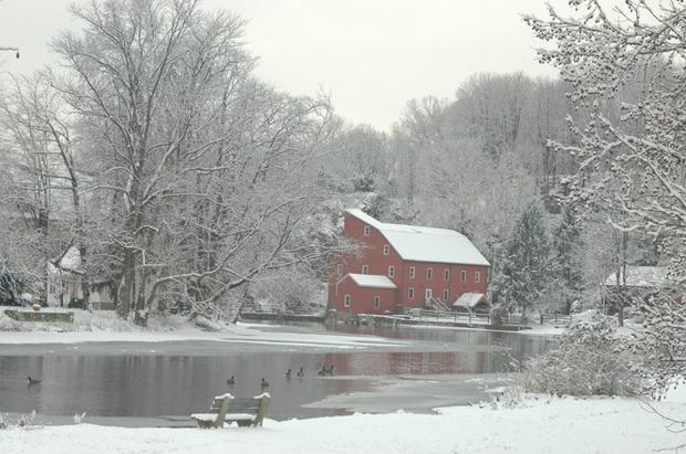A Tranquil Snow Scene In Hunterdon County