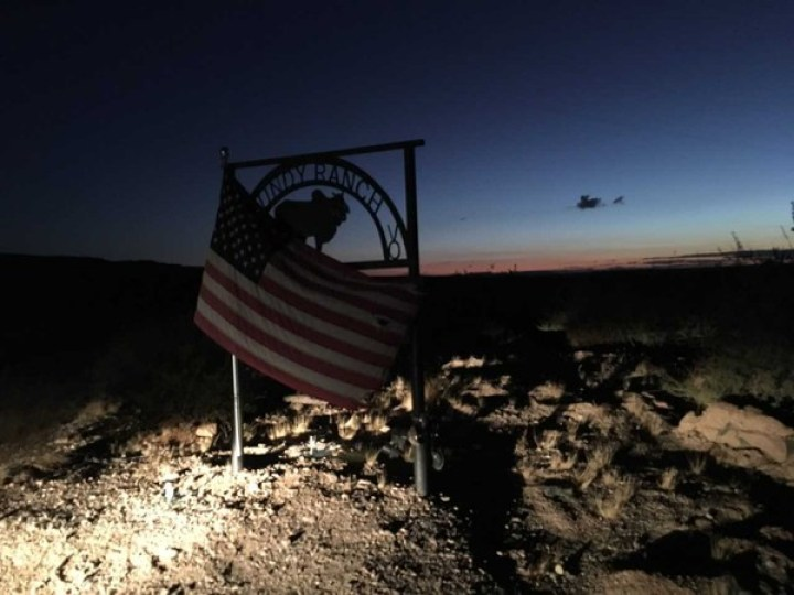 Entrance to the Bundy Ranch near Bunkerville, Nevada.