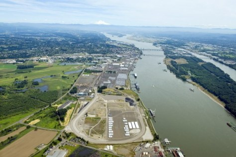 The Port of Vancouver's rail loop was proposed to serve a 360,000-barrel-a-day oil train terminal under a proposal by Tesoro Corp. and Savage Cos.  (Courtesy of Port of Vancouver)