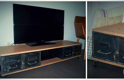meuble tv caisse a pomme l atelier