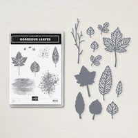 158609 Lot Gorgeous Leaves stampin up feuillage feuille découpe die poinçons Feuilles délicates