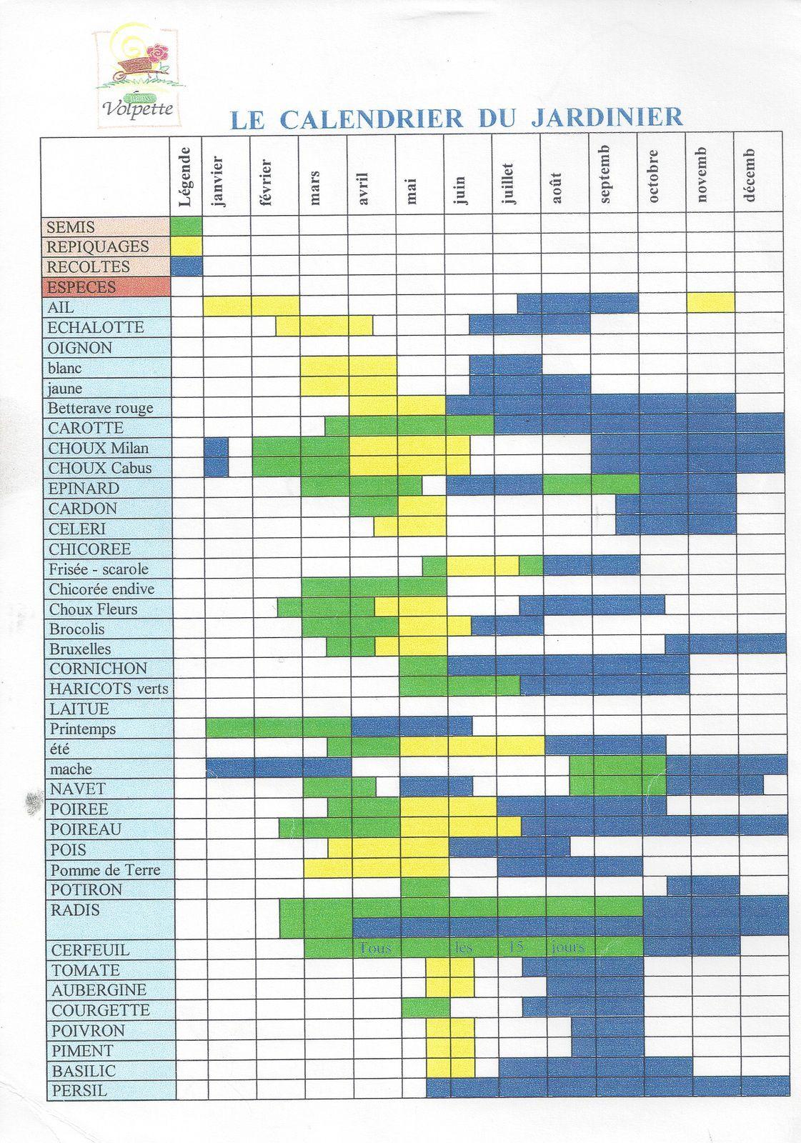 calendrier du potager jardins volpette