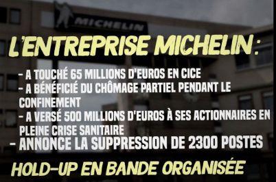 Les suppressions d'emplois  chez Michelin