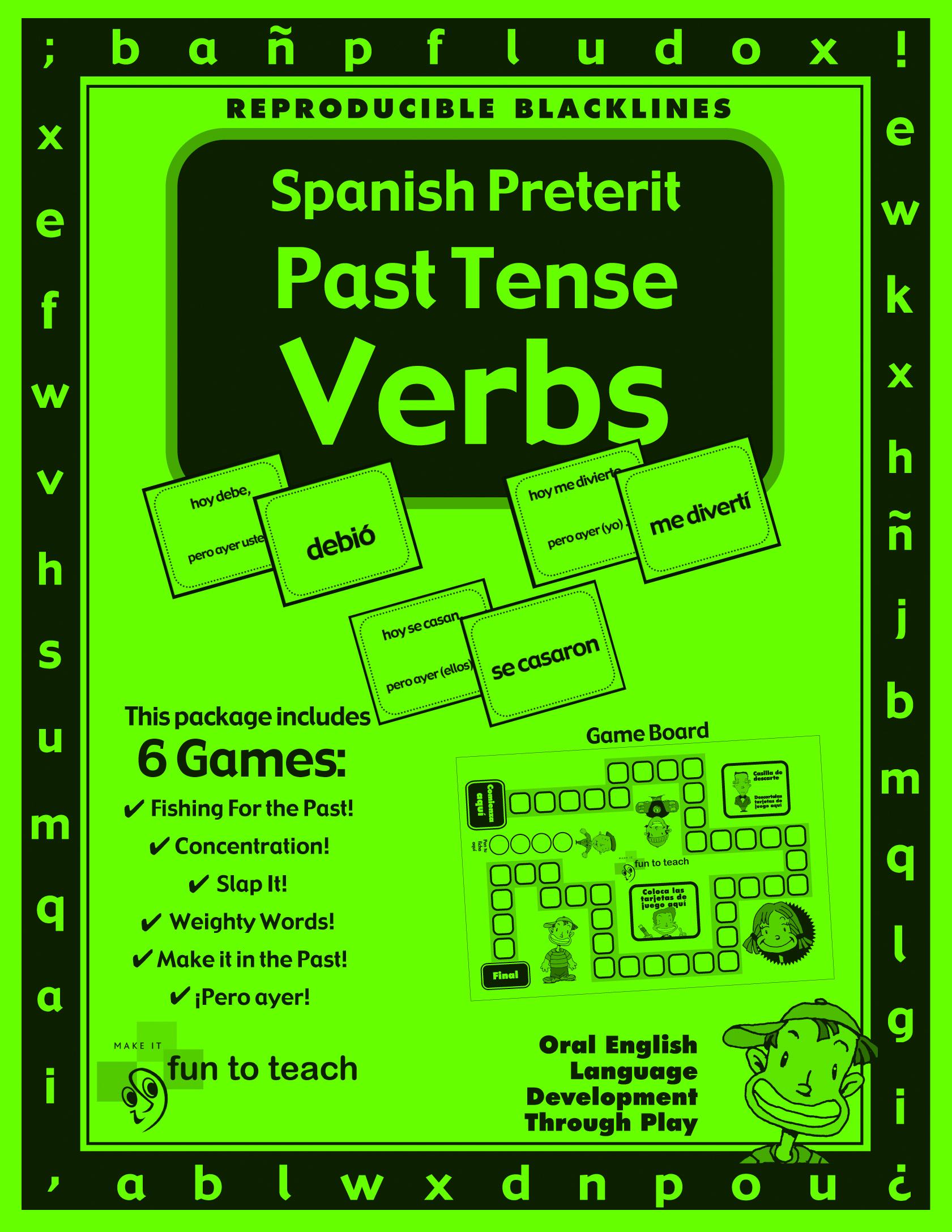 Spanish Preterite Past Tense Verbs