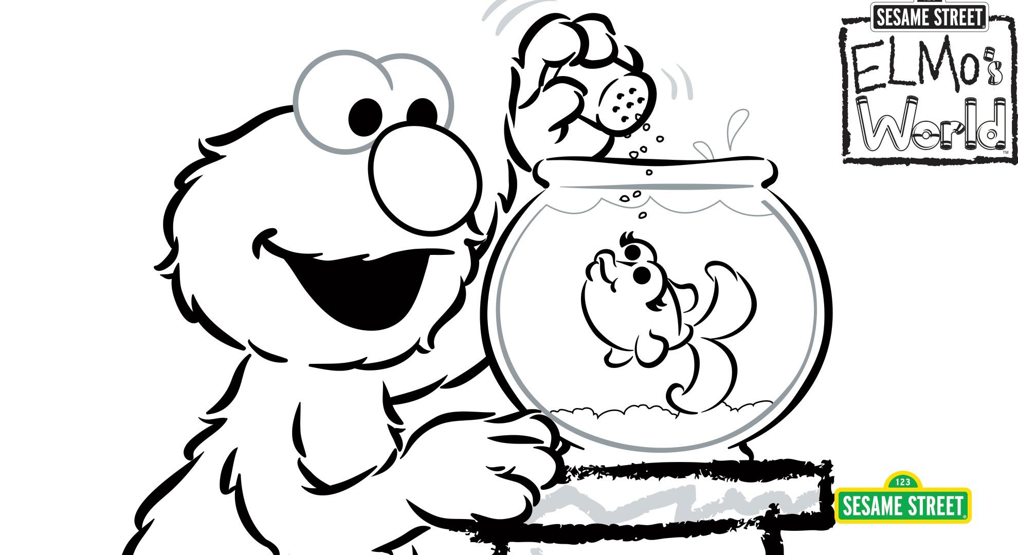 Elmo S World Coloring Page Printable