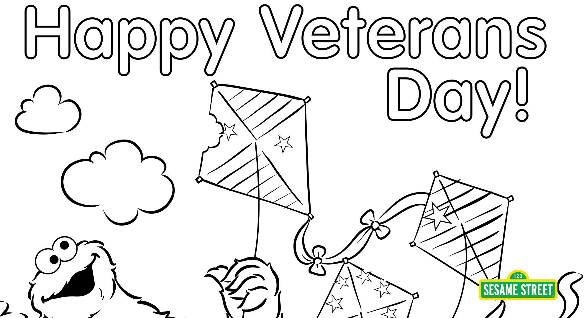 Veterans Day Coloring Page Printable