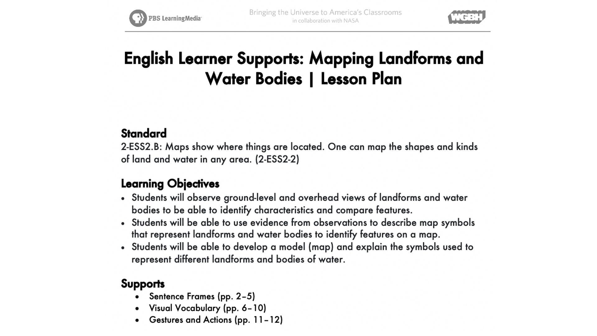 Landforms Worksheet Grade 10