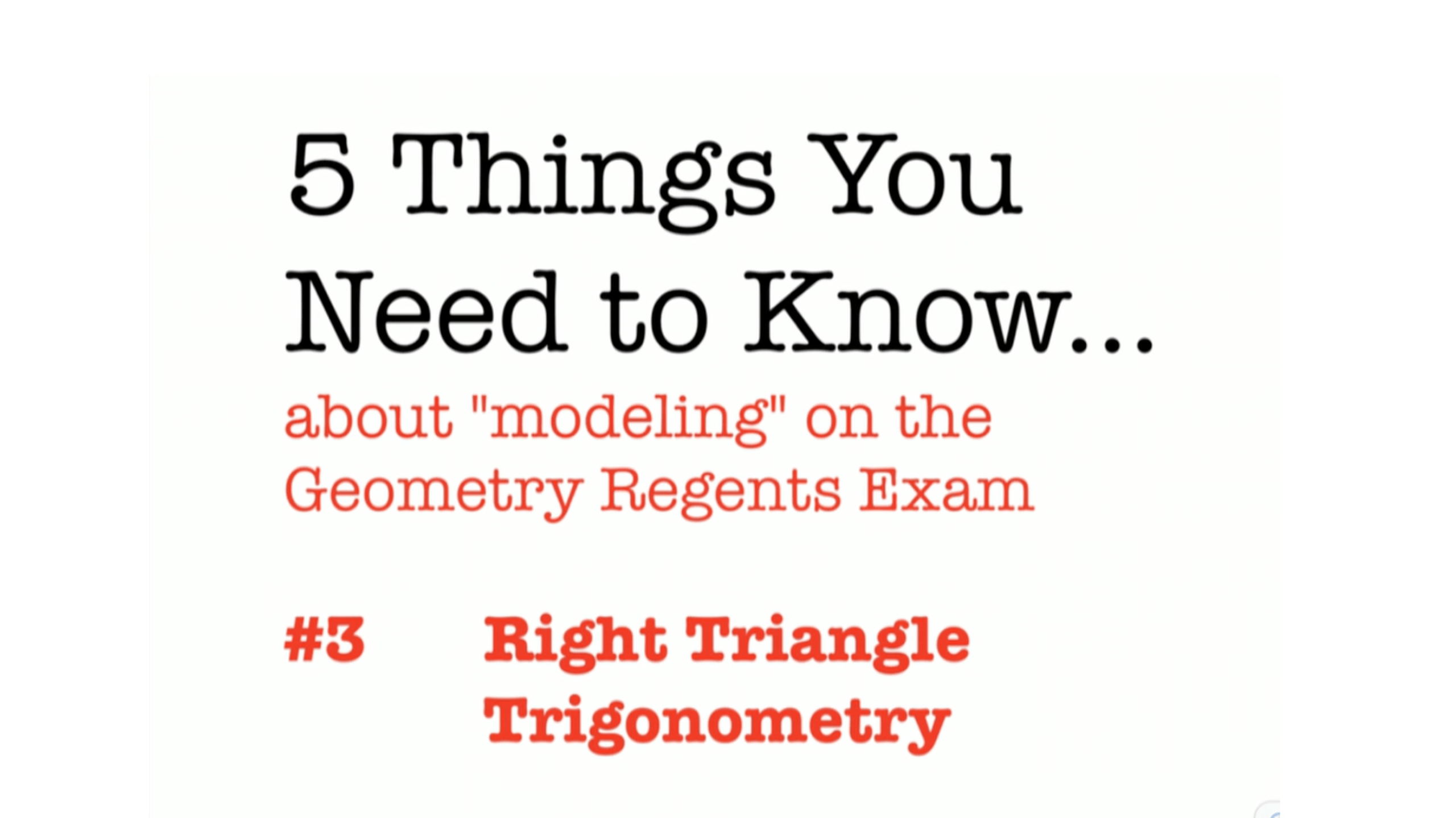 Geometry Trig Review Worksheet