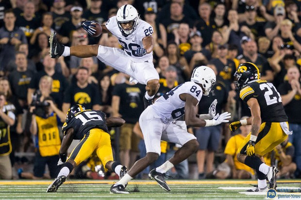 Watch Saquon Barkley Jump Clear Over An Iowa Defender