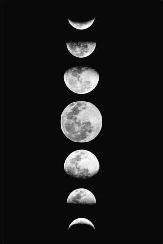 premium poster moon phases