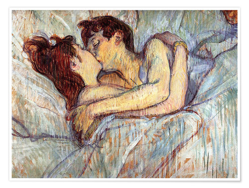 premium poster in bed the kiss