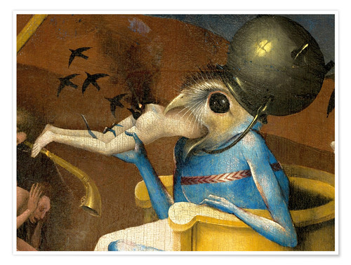 premium poster garden of earthly delights hell detail