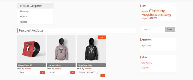 seller name on the store page