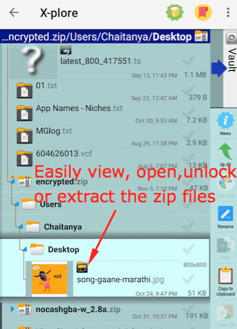 how to open password protected zip file in mobile