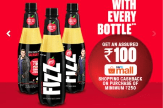 How to Receive The Paytm Mall CashBack Coupon of Rs 100 from Appy Fizz