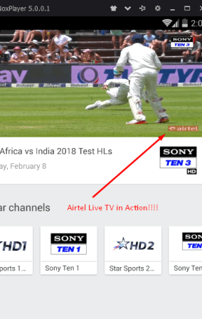 Jio TV Live Streaming on computer Vertical Portrait mode