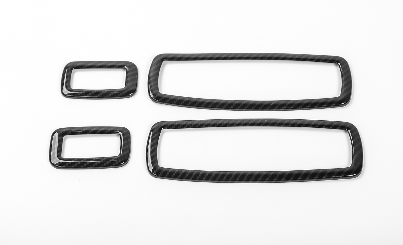 4 Carbon Fiber Window Switch Panel Cover Trim For Jeep