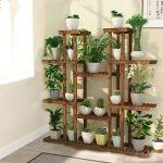 X Large 11 Tiered Wood Plant Stand Plants Pots Shelf Rack Organizer Living Room Ebay