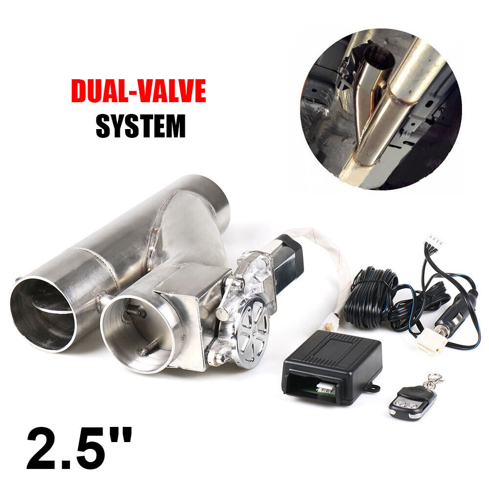 https www ebay co uk itm 2 5 inch 63mm exhaust control e cut out dual valve electric y pipe wish remote 333115443120